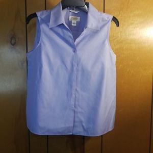 Talbot sleeveless button up shirt size 12 petite